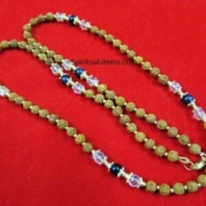 Rudraksha Sunstone And Spatic Combination Mala