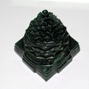 Meru Shree Yantra In Green Jade
