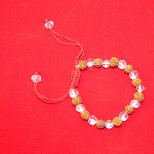 Rudraksha And Sphatik Bracelet