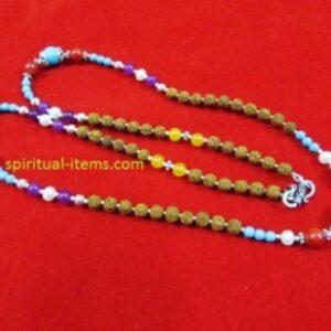 Rudraksha Onyx Amethyst Moti Coral  And Turquoise