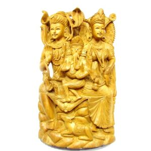 Shiva Parivar In Wood