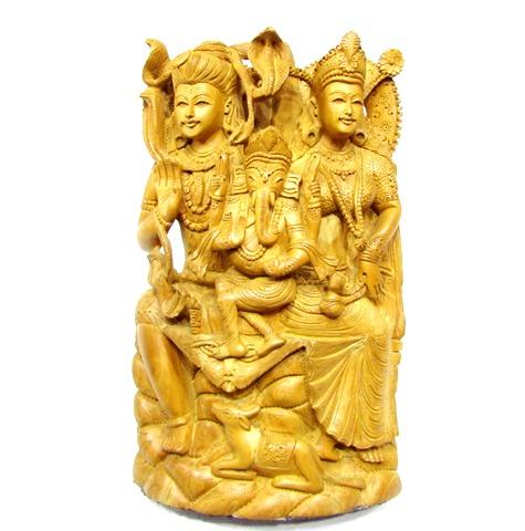 Shiva Parivar In Wood
