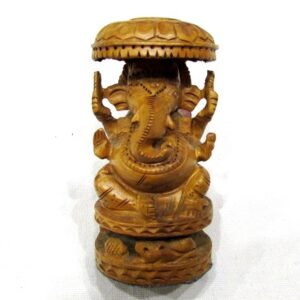 Ganesh Ji In Wood