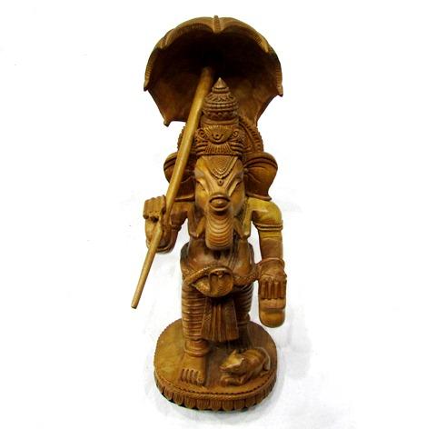 Ganesha In Wood