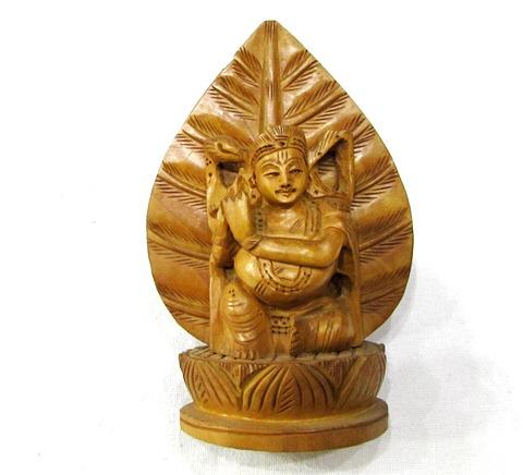 Krishna In Wood
